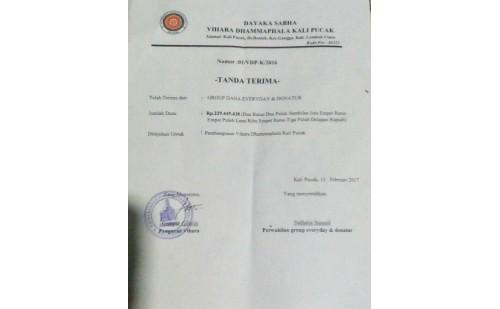 Dana Renovasi Vihara Dhamma Phala di Lombok Utara