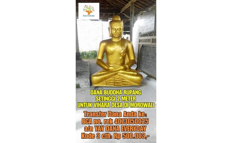 Dana Buddha Rupang setinggi 2 meter untuk vihara di desa