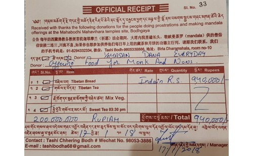 Dana Makan 1.500 Sangha Bodhgaya