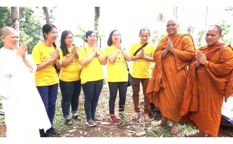 Dana Bangun Tempat Meditasi Hutan di Kampung Barengkok