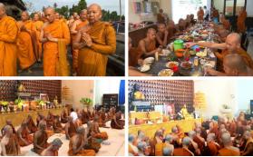 Dana Makan Kepada 100 Sangha di Acara Waisak Borobudur